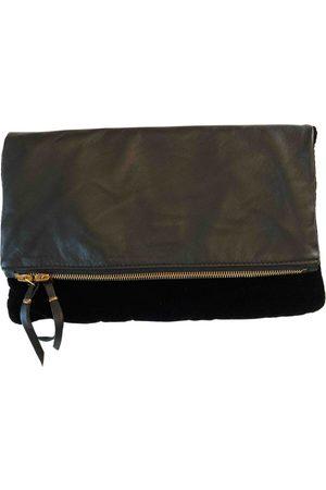 Maje Leather clutch bag
