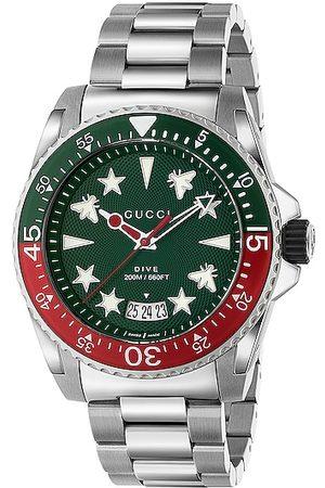 Gucci Dive 45mm Watch in Metallic Silver