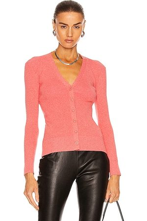 JoosTricot Long Sleeve Cardigan Top in Coral