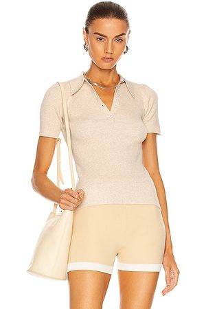 JoosTricot Polo Top in Beige