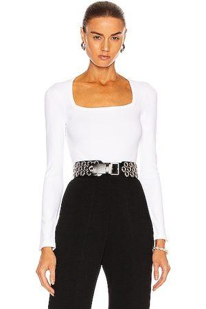 Alaïa Long Sleeve Bodysuit in