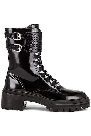 Alaïa Buckle Military Boots in