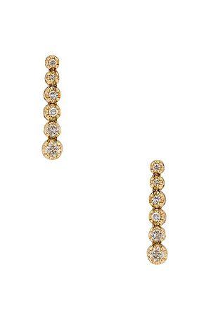 STONE AND STRAND Noble Diamond Tennis Earrings in Metallic