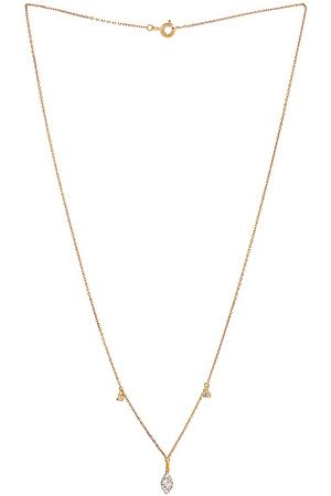 STONE AND STRAND Diamond Petal Necklace in Metallic