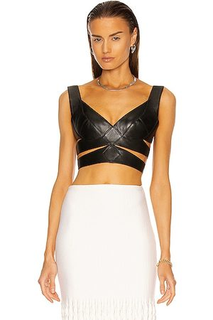 Alaïa Fitted Buckle Bustier Top in