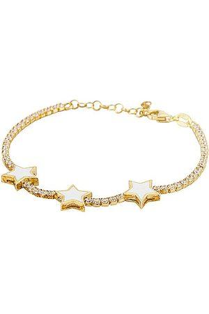 Adina's Jewels Enamel Triple Star Tennis Bracelet in .