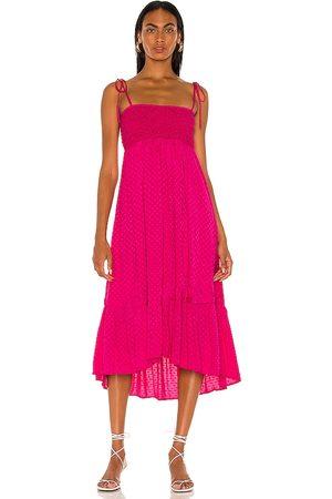 MAJORELLE Nola Maxi Dress in Fuchsia.
