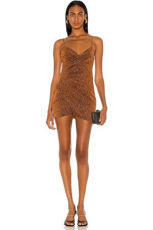 superdown Delanie Mini Dress in Rust.