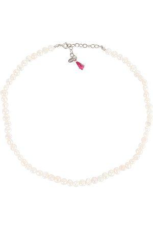 Shashi Lolita Necklace in White.