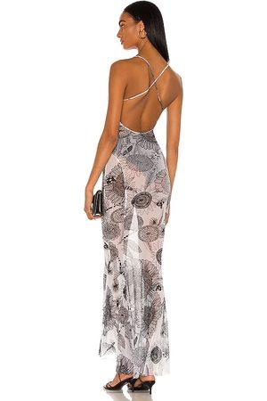Norma Kamali Women Casual Dresses - Low Back Slip Mermaid Fishtail Gown in White.