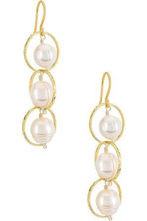 Mercedes Salazar Tres Vidas Earrings in Metallic .