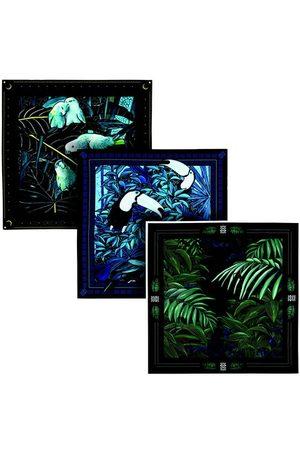 Maison Fetiche Men Pocket Squares - Gift Box 3 Pocket Squares Tropical