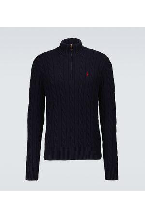 Polo Ralph Lauren Men Turtlenecks - Half-zipped cable knitted sweater