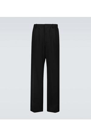 Lanvin Men Wide Leg Pants - Wide-leg wool pants