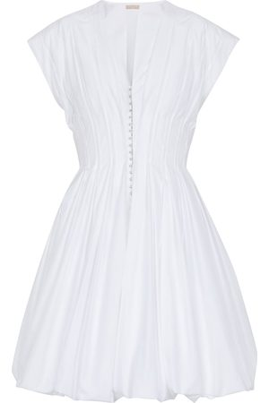 Alaïa Cotton-blend pleated minidress