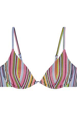 ONIA Woman Liana Metallic Striped Bikini Top Size S
