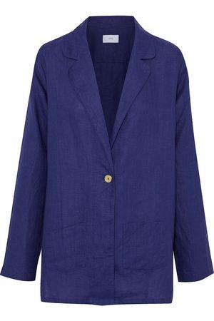 ONIA Women Blazers - Woman Beach Linen Blazer Indigo Size S