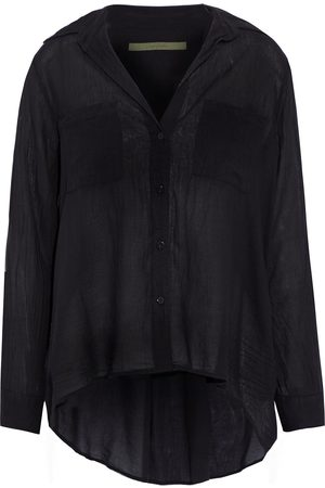 ENZA COSTA Woman Crinkled Cotton-voile Shirt Size 1