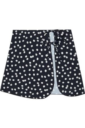 ONIA Woman Becca Floral-print Stretch-jersey Mini Skirt Size S