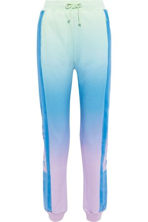 CECILIE COPENHAGEN Woman Ramone Rainbow Flocked Dégradé Organic French Cotton-terry Track Pants Size S