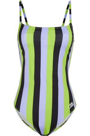 Solid Women Swimsuits - Woman The Nina Striped Swimsuit Lavender Size S