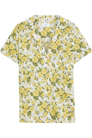 ONIA Woman Vacation Floral-print Cotton-voile Shirt Size S