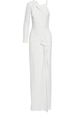 Roland Mouret Woman Delamere Asymmetric Ruffle-trimmed Crepe Gown Size 12