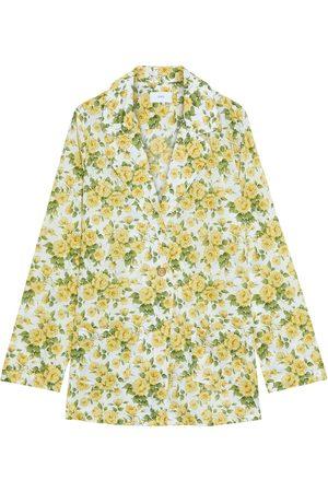 ONIA Women Blazers - Woman Beach Floral-print Cotton Blazer Size S