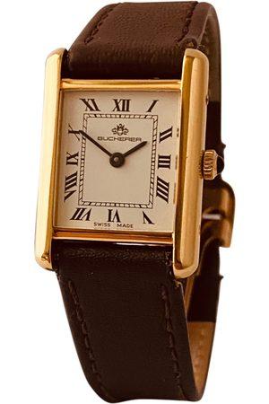 CARL F. BUCHERER Yellow watch