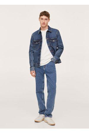 MANGO Men Denim Jackets - Dark wash denim jacket