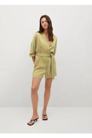 MANGO Wrap V-neckline jumpsuit