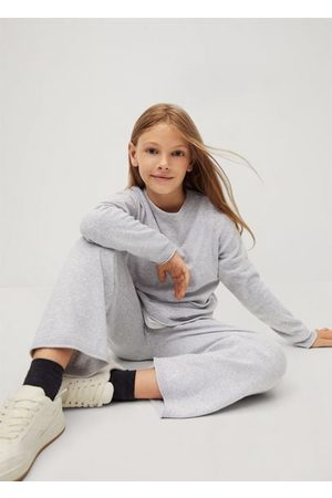 MANGO Girls Pants - Knitted culotte trousers