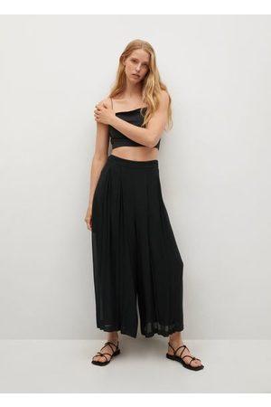 MANGO Pleats culotte trousers