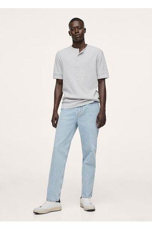 MANGO Men T-shirts - Henley knit t-shirt