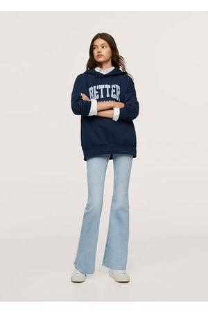 MANGO Oversized message sweatshirt