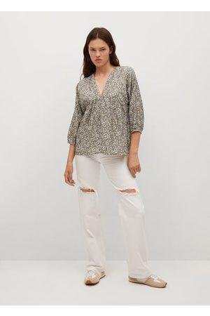 MANGO Pleated details blouse