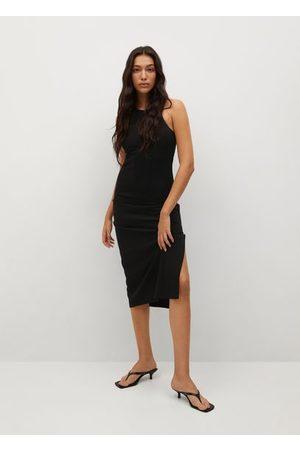 MANGO Women Bodycon Dresses - Cut-out bodycon dress