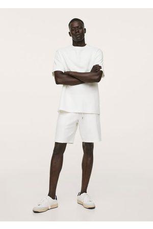 MANGO Structured cotton bermuda