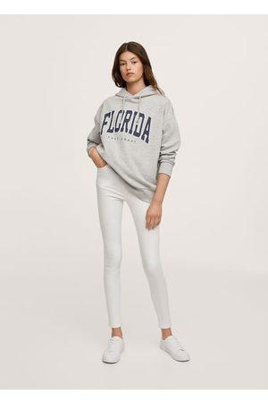 MANGO Girls Sweatshirts - Oversized message sweatshirt