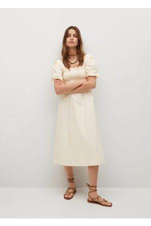 MANGO Women Dresses - Puffed sleeves dress