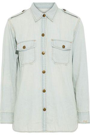 Current/Elliott Women Shirts - Woman The Perfect Cotton-chambray Shirt Light Denim Size 1