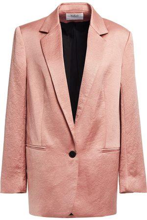 Bash Women Blazers - Woman Hammered-satin Blazer Antique Rose Size 0