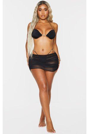 PRETTYLITTLETHING Women Skirts & Dresses - Shape Mesh Ruched Beach Skirt