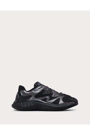 VALENTINO GARAVANI Men Sneakers - Wade Runner Sneaker In Neoprene And Fabric Man /ruthenium 20% Elastane 41