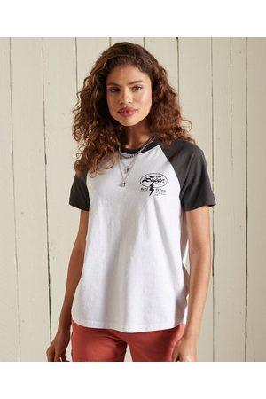 Superdry Women T-shirts - Black Out Raglan T-Shirt