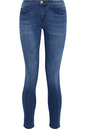 Current/Elliott Women Skinny - Woman The Stiletto Cropped Low-rise Skinny Jeans Mid Denim Size 24