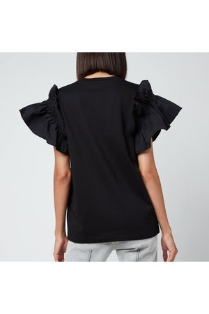 Victoria Beckham Women's Ruffle Shirting Sleeve T-Shirt