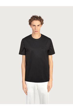 Salvatore Ferragamo Men Polo Shirts - Men T-shirt with Gancini