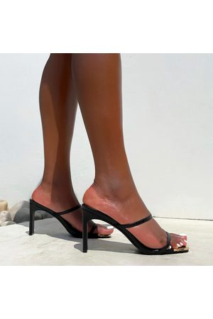 simmi.com Mules - Tanner Faux Snake Print Two Part Strap Mules