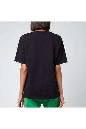 Victoria Beckham Women T-shirts - Women's Embroidered Floral Logo Heavy Jersey T-Shirt
